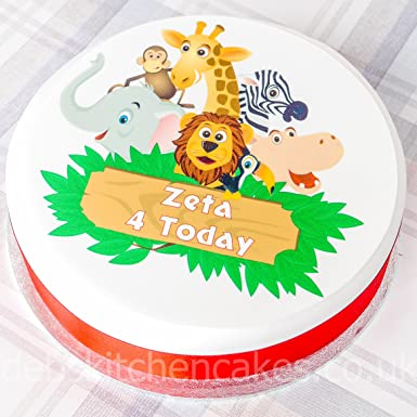 Personalised Jungle Safari Cake Decoration
