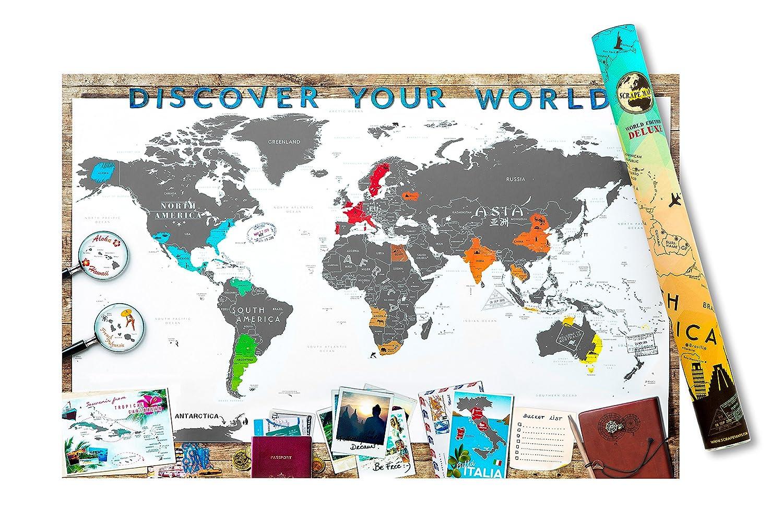 Scrape Map XXL Weltkarte in XXL Zum rubbeln als Geschenkidee UE04263