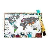 Scrape Map XXL Weltkarte in XXL zum rubbeln als Geschenkidee