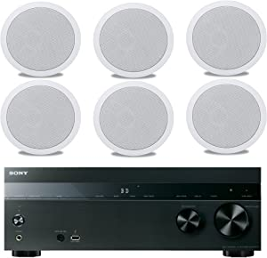 Sony 5.2-Channel 725-Watt 4K A/V Home Theater Receiver + Polk Easy-to-Install High-Performance Surround Sound 6.5