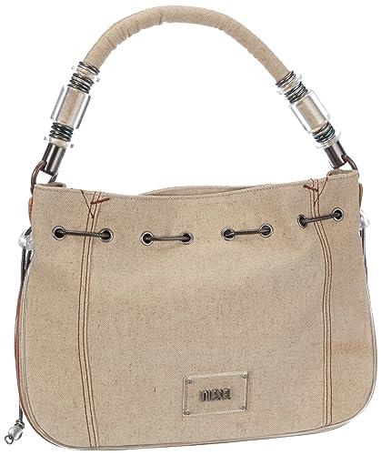 9383e448 Diesel Womens Bandy-Bandy Handbag Beige Beige (Safari T2065) Size: 34x25x12  cm