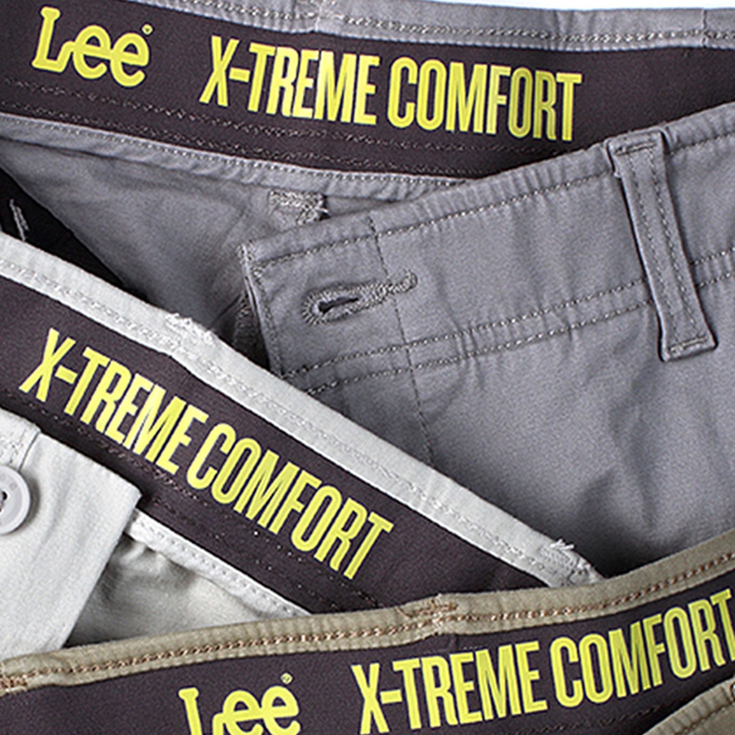 LEE Men's Performance Series Extreme Comfort Khaki Pant, Iron, 32W x 34L by LEE (Image #1)