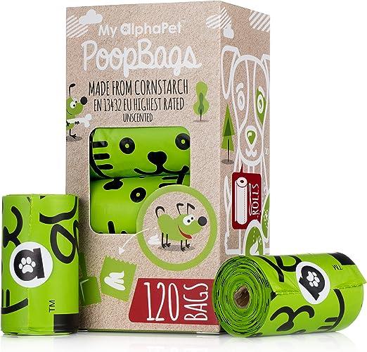 My AlphaPet Bolsas Caca Perro Biodegradables – Respetuosa con el ...