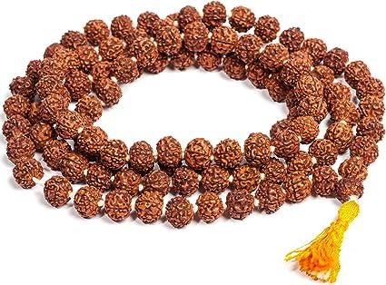 SAUBHAGYA GLOBAL Wood Brown Rudraksha Jaap Mala for Astrology (108+1 Beads)