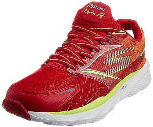 Skechers GO RIDE 4 - Zapatillas de deporte para hombre, Arancione (red/lime), 40: Amazon.es: Zapatos y complementos