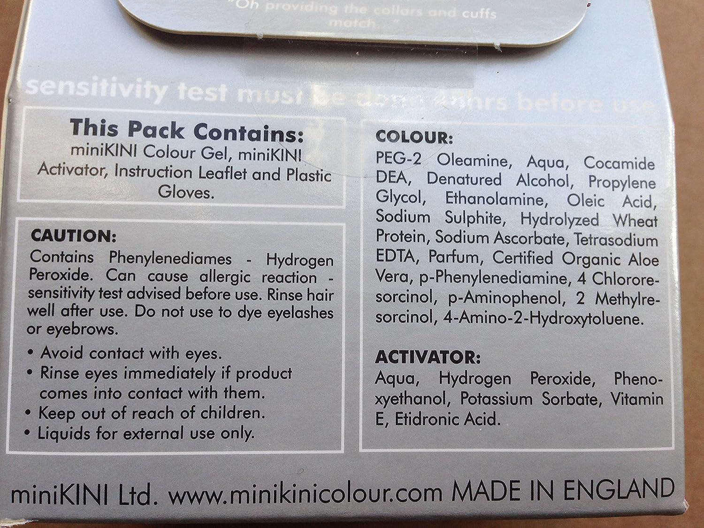 MiniKini Colour - Tinte permanente para cabello púbico, color castaño oscuro