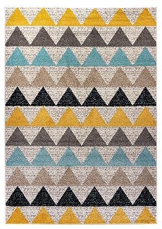 Carpetforyou Designer Moderner Kurzflor Teppich Desert New Dreieck