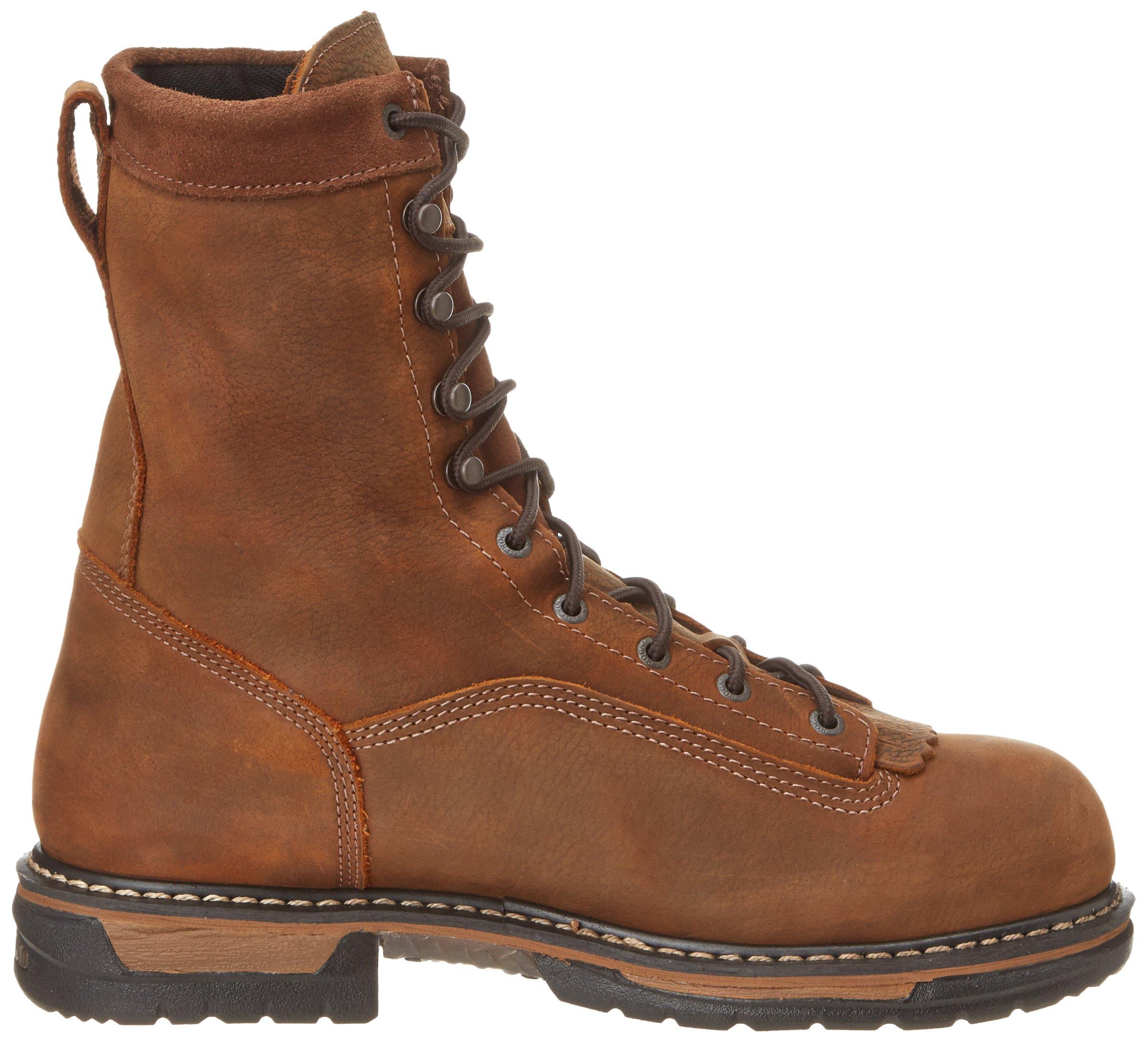 Rocky Men's Iron Clad Eight Inch LTT Steel Toe Work Boot,Brown,13 M US by Rocky (Image #6)