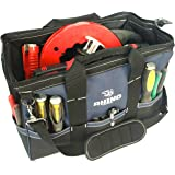 Rhino 18 in Heavy Duty Wide Mouth Contractor Tool Bag With Back-saver Padded Shoulder Strap