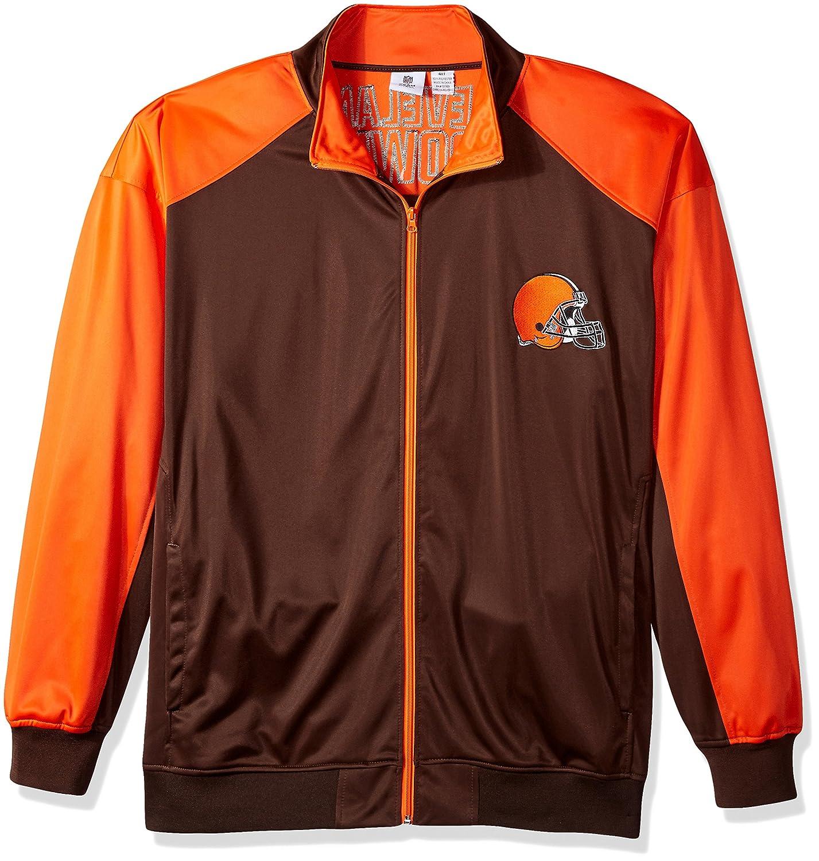 NFLメンズBrowns Full Zipトリコットトラックジャケット 5X ブラウン/オレンジ B0752W1NC7