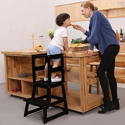 Amazon.com: SDADI Kids Step Stool Kitchen Learning Stool with Safety ...