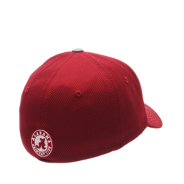 NCAA Alabama Crimson Tide Adult Men Americana ZH Cap,X-Large,Silver//Red