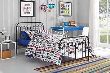 Amazon Com Novogratz Bright Pop Metal Bed Adjustable Height For