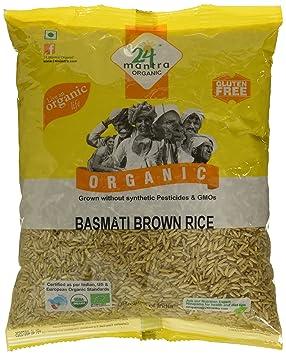 24 Mantra Organic Basmati Rice Premium Brown, 1kg