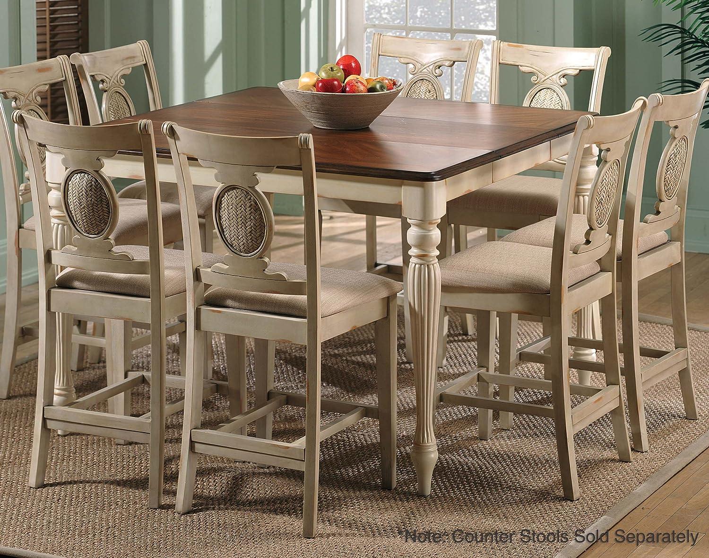 Amazon Com Hillsdale 36 X 54 Counter Height Table Antique Buttermilk Furniture Decor
