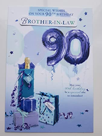 90Th Birthday Card Male Titles Brother In Law Uncle Dad Husband Grandad Amazoncouk Office Products