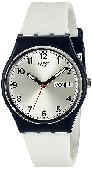 Swatch Reloj Digital de Cuarzo Unisex con Correa de Silicona - GN720: Amazon.es: Relojes