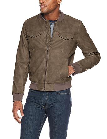 6434a71c38d4 Levi's Men's Faux Suede Lightweight Trucker Bomber Jacket at Amazon Men's  Clothing store: