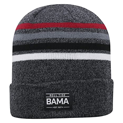 32168d51a4b Image Unavailable. Image not available for. Color  Top of the World Alabama  Crimson Tide Official NCAA Cuffed Knit Upland Stocking Stretch Sock Hat