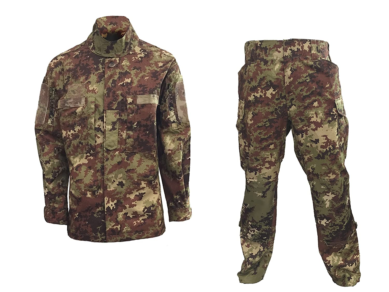 ALGI Completo Uniforme Mimetico da Combattimento Antistrappo Vegetato Trattato IR (Mod. Soldato Futuro) OUTLET MILITARY