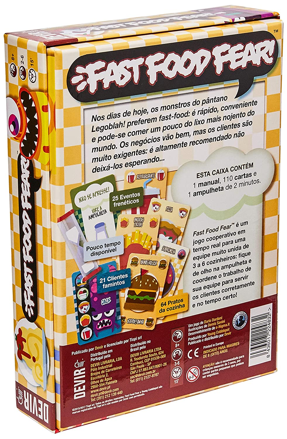 Amazon.com: Fast Food Fear Cooperative Card Game: Toys & Games