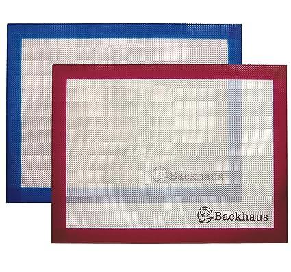 Backhaus Tapete de Cocción Lámina de Horno de Silicona Antiadherente, Juego de Repostería Profesional |