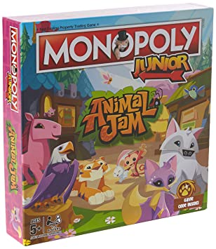 Winning Moves Animal Jam Junior Monopoly Board Game: Amazon ...