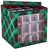Honey-Can-Do Sft-07751 Plaid 36-inch Wreath Storage