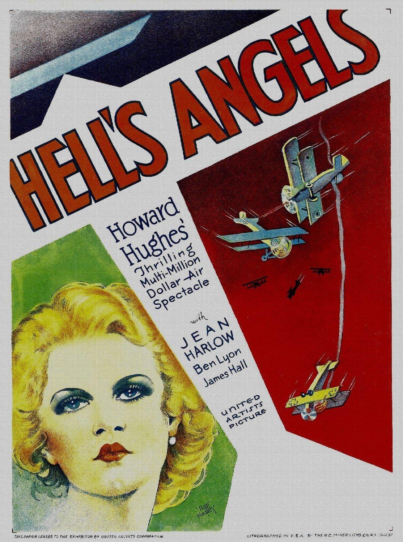 Hells Angels Vintage Jean Harlow Movie Poster 24x36
