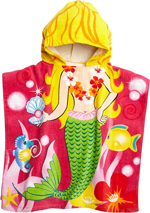 Northpoint Alligator Surfer Dude Kids Hooded Beach Towel 24 x 48 Inch