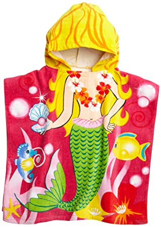 Amazoncom Northpoint Mermaid Kids Hooded Beach Towel Home Kitchen