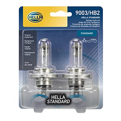 HELLA 9003TB Standard Halogen Bulbs, 12 V, 60/55W: Automotive