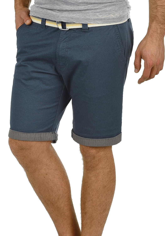 !Solid Lagos Short Chino Bermuda Pantalon Court Homme Ceinture Extensible Coupe Régulaire