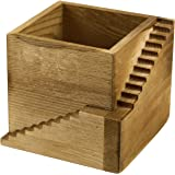 Modern Wood Staircase Design Cube Planter Box, Small Succulent Plant Cactus Container Pot
