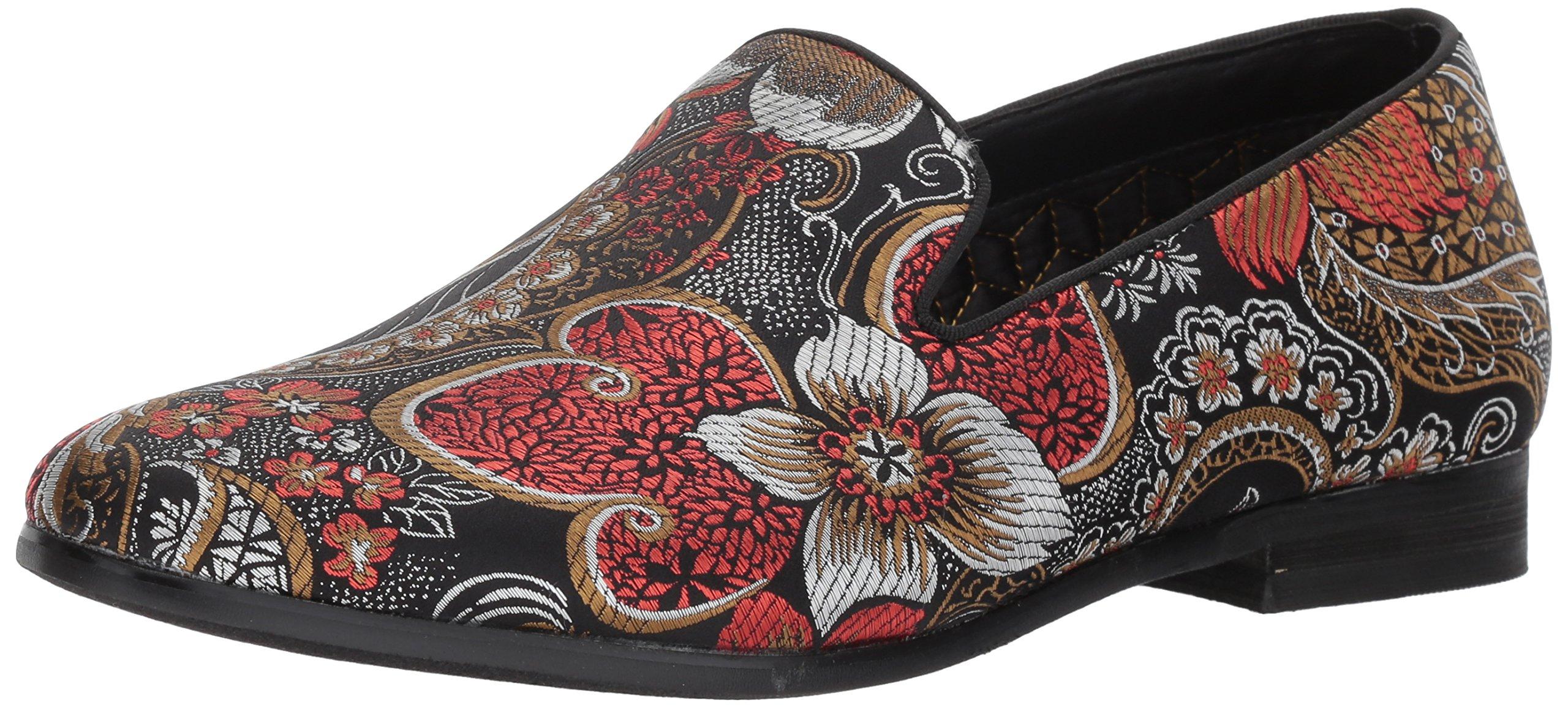 Steve Madden Men's Cypress Loafer, Red/Multi, 13 M US