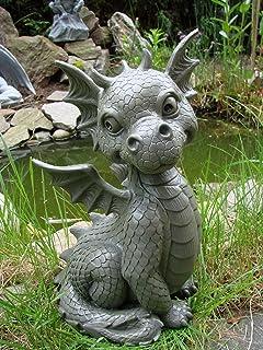Garden Dragon Sitting Garden FigureGargoyle