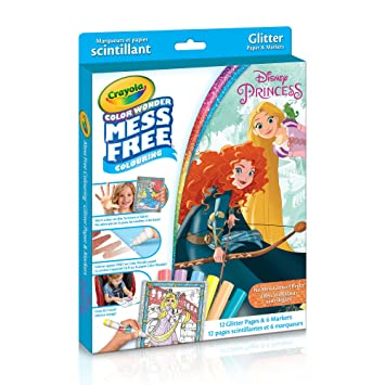 Crayola Color Wonder Glitter Paper Disney Princess