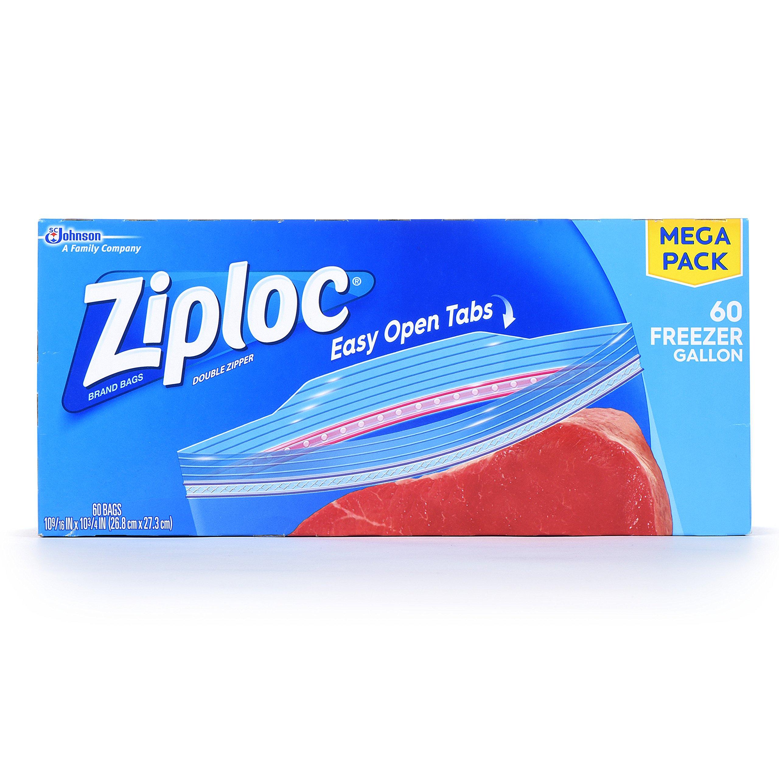 Ziploc Freezer Bags Gallon, 60.0 Count