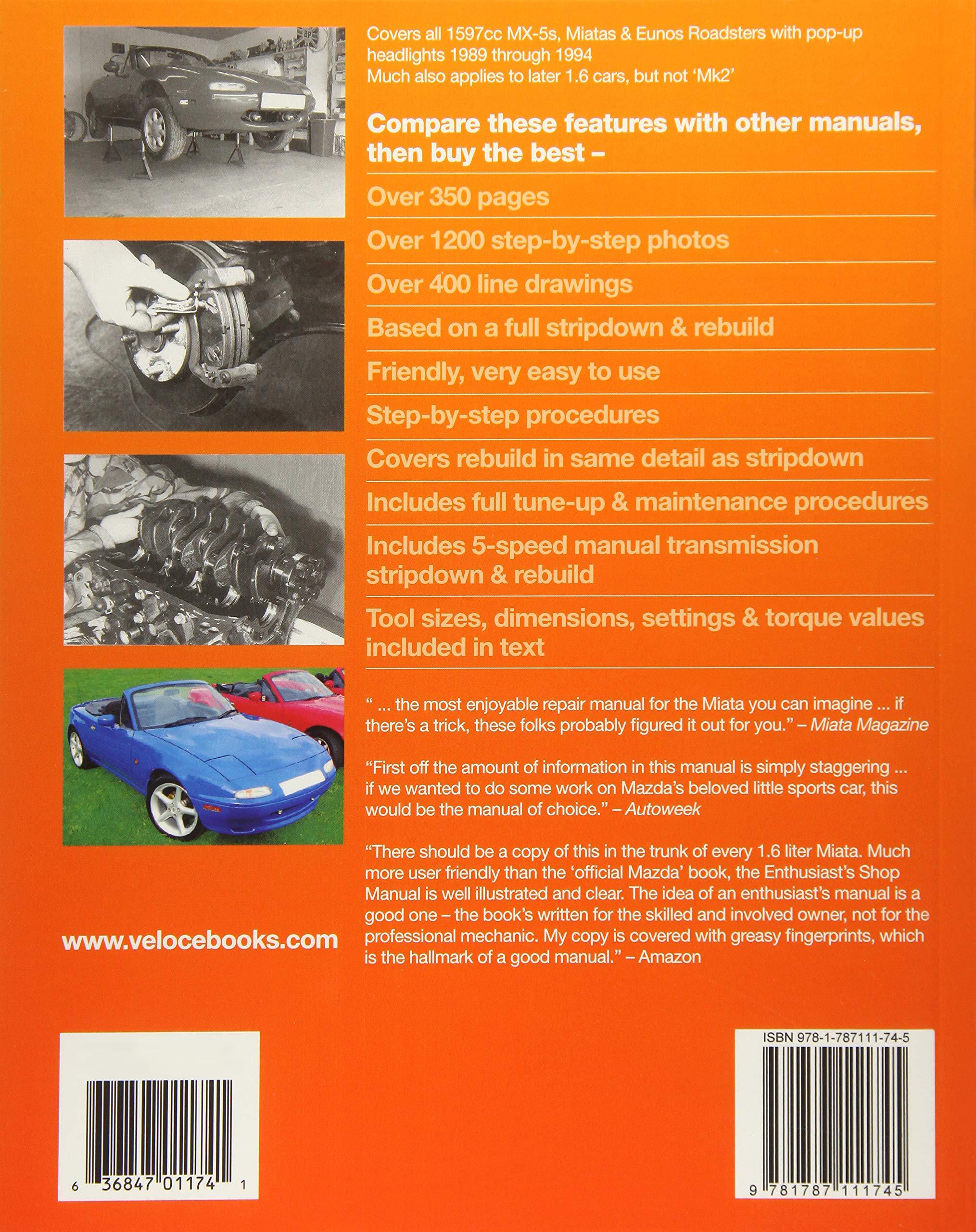Mazda MX-5 Miata 1.6 Enthusiast's Workshop Manual (Enthusiast's Workshop  Manual series): Amazon.co.uk: Rod Grainger: 9781787111745: Books