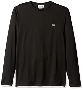 42117a048c9bee Lacoste Men s Long Sleeve Pima Jersey Crewneck T-Shirt