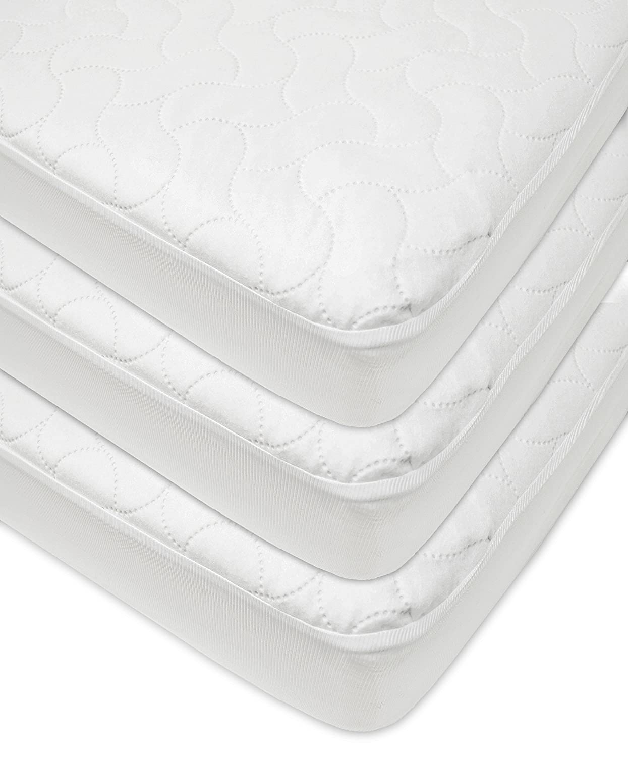 White 3 Pack for Boys and Girls American Baby Company Waterproof Fitted Quilted Crib and Toddler Protective Pad Cover