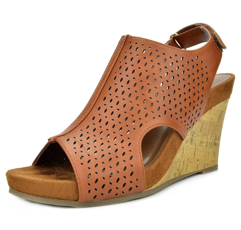 df95e06bfdc1 TOETOS Solsoft New Women s Casual Open Toes Mid Heels Platform Wedges Summer  Sandals  Amazon.ca  Shoes   Handbags