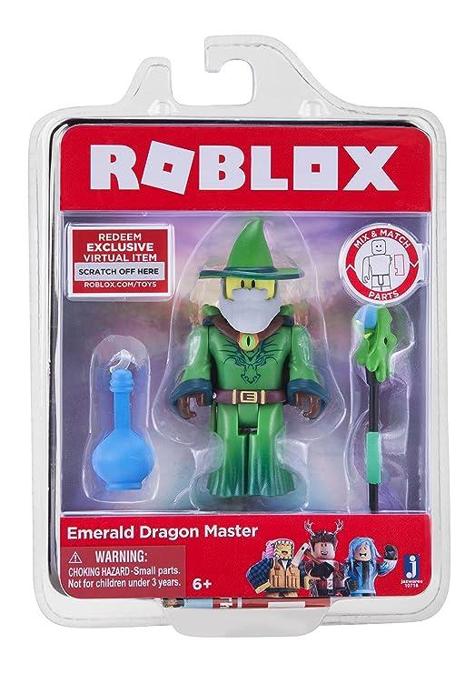 Amazoncom Roblox Emerald Dragon Master Figure With Exclusive