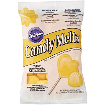 Amazon.com : 3 x Wilton 12 oz (340g) YELLOW Candy Melts ...