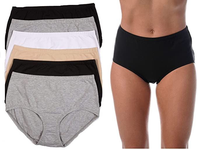 579e087786fc Just Intimates Brief Panties for Women Comfortable Cotton Panty ...