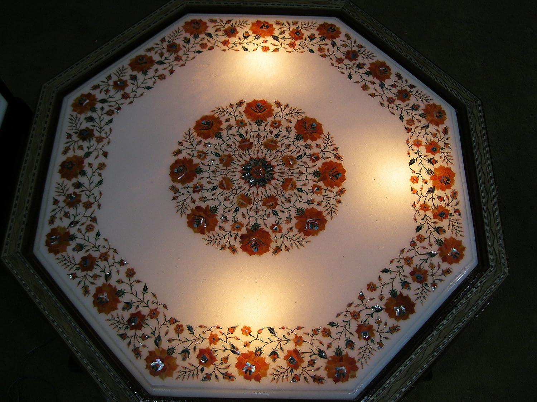 76,2cm Zoll Marmor Tisch Top Semi Precious Stone Inlay Coffee Tisch Sofa Beistelltisch Home Office Decor