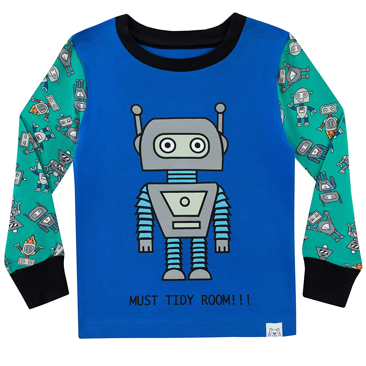 Harry Bear Boys Pajamas Retro Robots