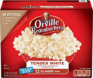 product image for orville redenbacher's Tender White Popcorn, 39.40 oz, 12 ct