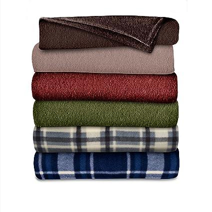 Amazoncom Sunbeam Throw Blanket Fleece 3 Heat Settings