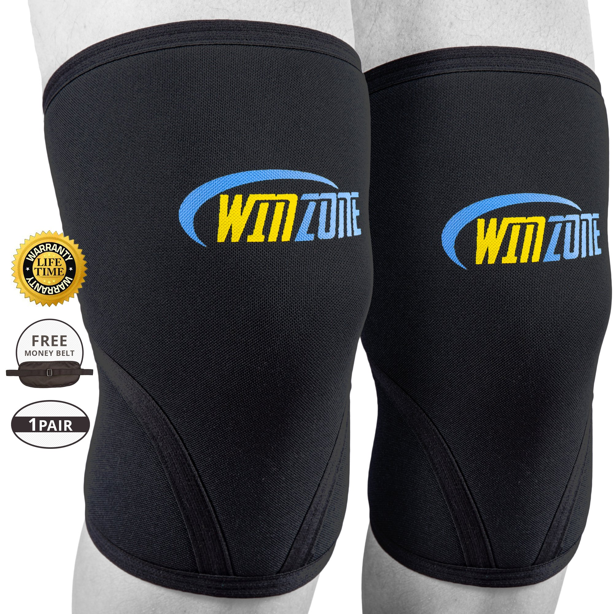 Knee Sleeve Brace Compression Sleeves Pair 7Mm Neoprene Basketball Weightlift.. 18